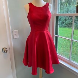 Red semi-formal, homecoming, prom dress